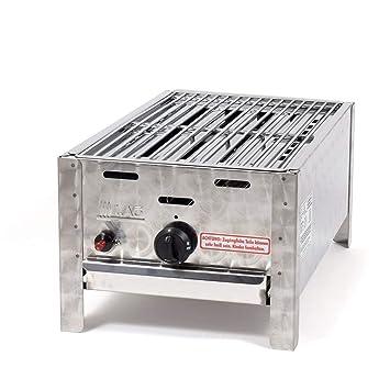 LAG Gasbr/äter 3,65 kW 1-flammig mit Stahlpfanne Gasgrill Grill Br/äter Profigrill Verein