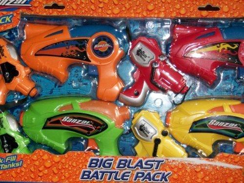 Banzai Big Blast Battle Pack (Includes 8 waterguns) by Banzai ()
