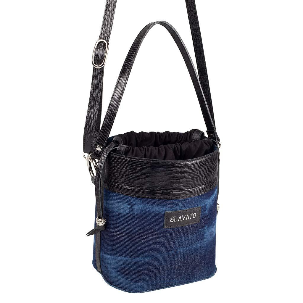 d3449376b9a94 Bolsa Bucket Preta Slavato  Amazon.com.br  Amazon Moda