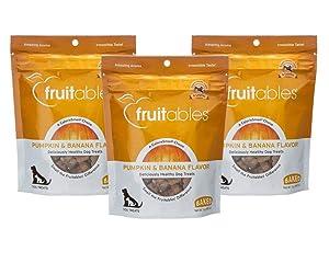 Fruitables 7 Ounce Crunchy Baked Dog Treats Pumpkin & Banana Flavor