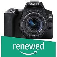 (Renewed) Canon EOS 200D II 24.1MP Digital SLR Camera + EF-S 18-55mm f4 is STM Lens (Black)