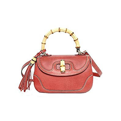 b9fb91afb Gucci Bamboo Large Top Handle Bag Coral Red Leather Handbag Shoulderbag,  254884