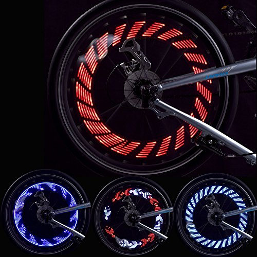 GOWEII 2 Pack Colorful and Bright LED Bicycle Spoke Lights for Bike Wheels Decoration (Type#2(Two Pieces))