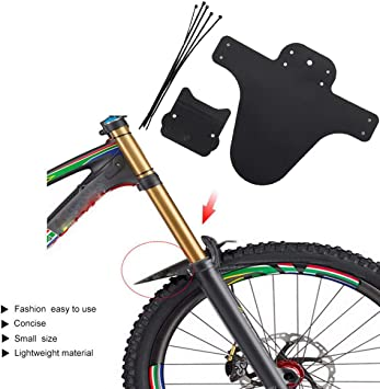 Heaviesk Portable Bicycle Mudguard Easy to Install MTB Fender Mud Guards Wings for Bicycle Front Fenders Bike Accessories