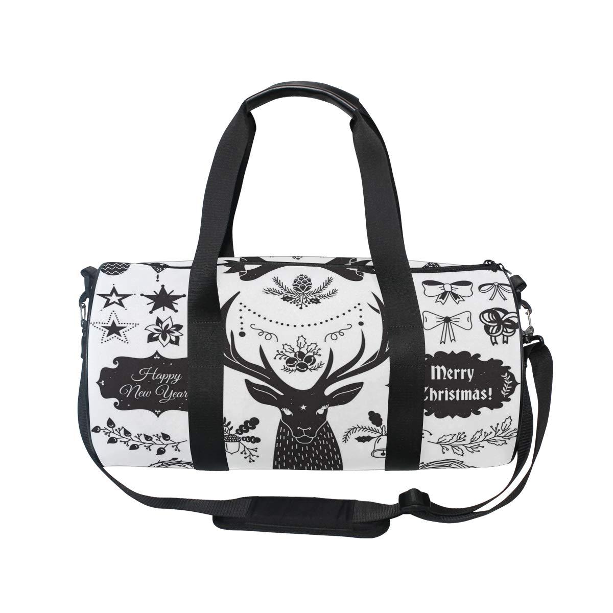 Cute Moose Christmas Decorations Popular casual fitness bag,Non-Slip Wearable Crossbody Bag Waterproof Shoulder Bag.