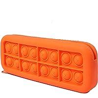Silikonowy pop Bubble piórnik dla dzieci, przenośny silikonowy Fidget Sensory Toy Pen Bag, przybory szkolne biurowe…