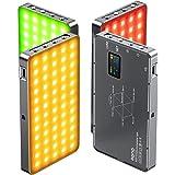 llano RGB Video Light, Built-in 4000mAh Rechargeable Battery 360 Full Color Gamut 9 Light Effects,3000-6500K LED Camera Light