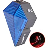 Vistop Bike Cycling Safety Zone Tail Light 8 LED with 2 Red Laser