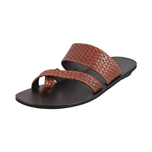 Mochi Men Tan Leather Sandals: Buy Online at Low Prices in India - Amazon.in