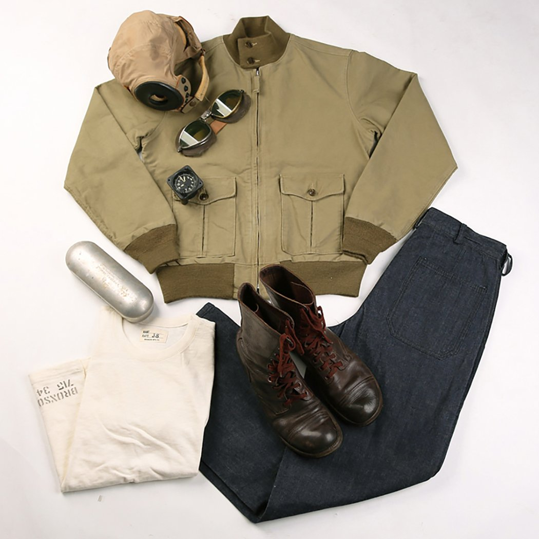 Men's Vintage Style Coats and Jackets Bronson Reproduce Mens USN 37J1 Flight Jacket $139.99 AT vintagedancer.com