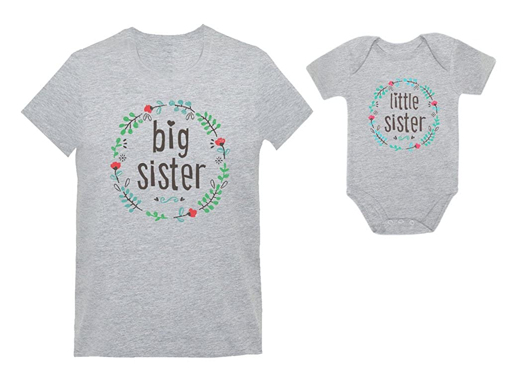 Big Sisters and Little Sisters Sibling Set Girls Shirts Gift For Daughtera Set nCs9nhlf
