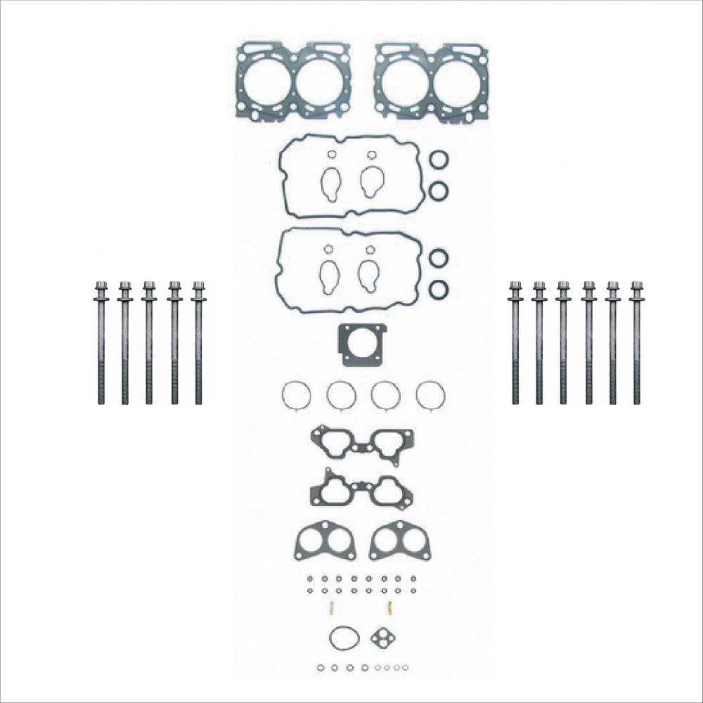 Prime Choice Auto Parts HGPKG0088 1 Cylinder Head Bolt Set and 1Head Gasket Set