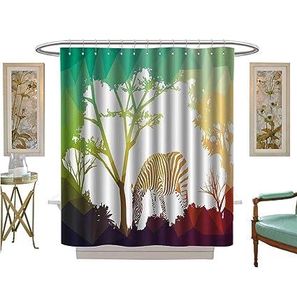 Amazon Com Prunus Shower Curtains 3d Digital Printing Fractal