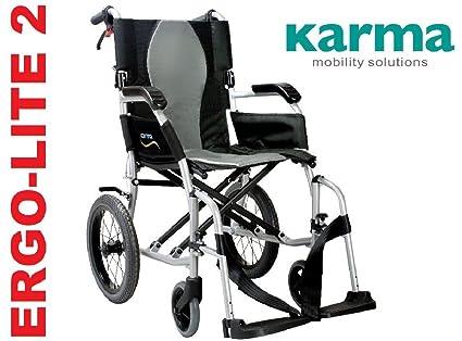 Karma Ergo Lite 2 Ultra ligero silla de ruedas tránsito/ – ahora ha desmontable reposapiés