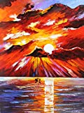 SUNSET MOVEMENT is an Original Oil Painting on Canvas by Leonid Afremov. Image Dimensions are 20 x 24. This wonderful, ORIGINAL, which captures the beauty and solitude of sunset while sailing at sea will ship Gallery Wrapped and is ready to be hung. ...