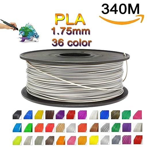 Bbyaki Pluma 3D Filamento PLA Línea Delgada 340M 1.75Mm 1.3Kg 36 ...