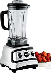 Q2 Deluxe Multi Function Countertop Blender – High Speed 32,000 RPM Motor, 1500 Watts, 68 Oz Capacity, Stainless Steel Finish, 6 Steel Blades, 3 Speeds, Vibration & Sound Reduction, Great for Smoothies, Shakes, Juices & Even Soup