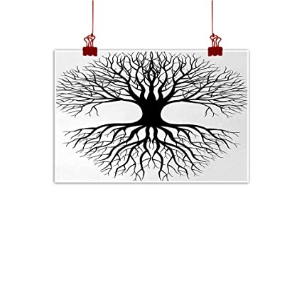 Amazon Com Tree Of Life Abstract Painting Plant Silhouette