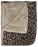 WPM Queen Animal print Blanket Sumptuously Soft Plush Faux Fur sherpa Black leopard jungle print Blankets-ACE23