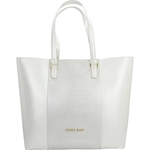 12f3f5984028 Armani Jeans Shopping bag woman Pvc Plastic Silver Platinum  Amazon ...