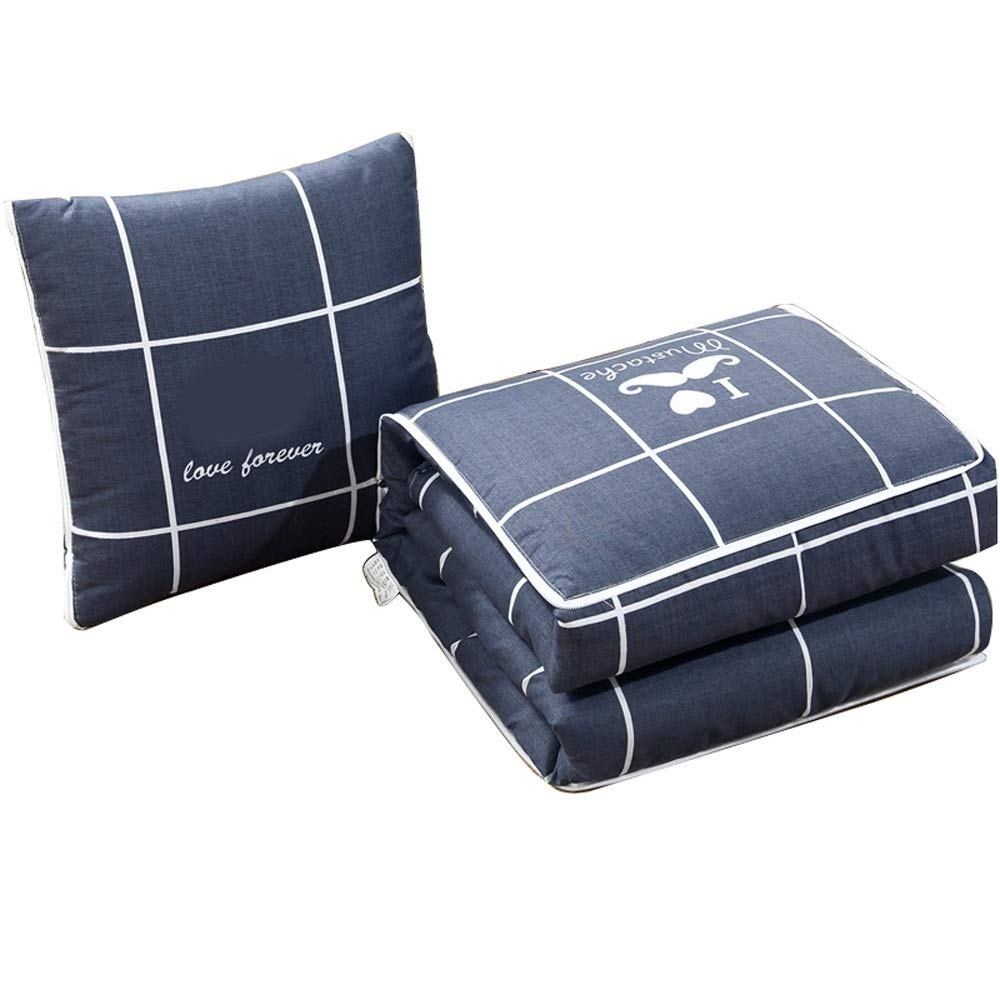 Sunny Lingt Folding Car Decoration Square Pillow Quilt Dual-use Car Cushion for Living Room Sofa Bedroom Office with Invisible Zipper 1 Piece with Pillow Core (40 X 40cm) (Color : 50X50(2Pieces))