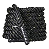 go2buy 2'' 30ft Battle Ropes/Exercise Rope/Training Rope for Strength Training Cross Fit Exercises Workout