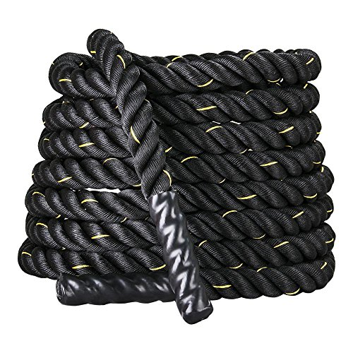 go2buy 2'' 30ft Battle Ropes/Exercise Rope/Training Rope for Strength Training Cross Fit Exercises Workout by go2buy