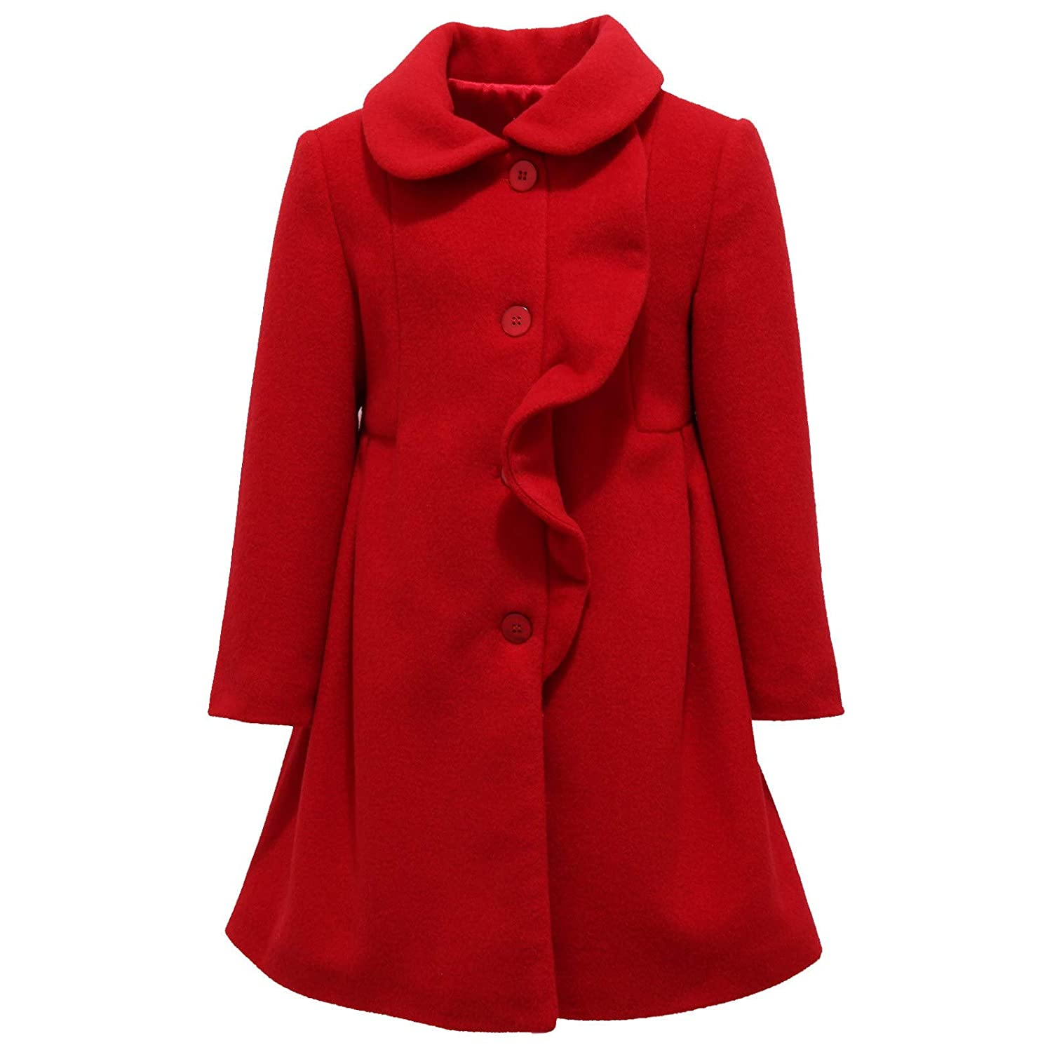 Rouge 6 Years   A. 8926Y Cappotto Bimba Girl rouge Wool Blend Coat veste