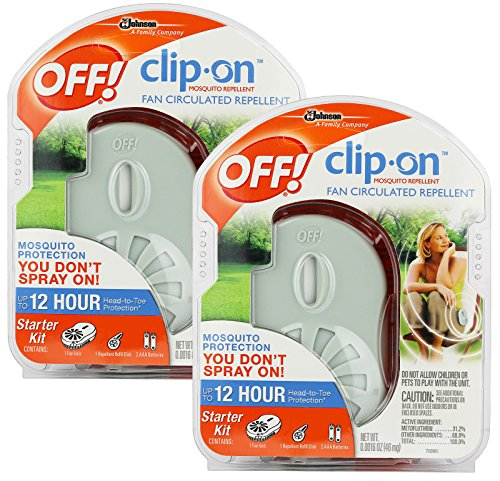 OFF! Clip-on Mosquito Repellent Fan, 2-Pack