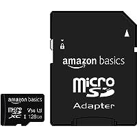 Amazon Basics - Tarjeta de memoria microSDXC 128 GB con adaptador de tamaño completo, A2, U3, velocidad de lectura hasta…