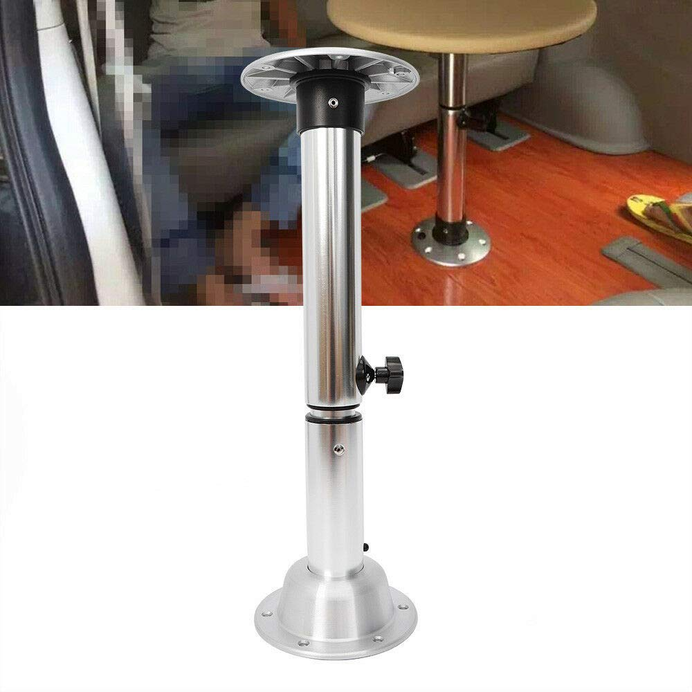 Table Pedestal Stand, Multifunction Aluminum Table Pedestal Stand Base Fit Marine Boat Yacht Caravan Motorhome 22-28'',Silver by DONSU