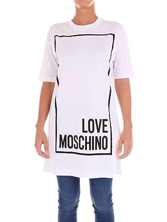 57fbc2df2fbe Love Moschino W592306M3897 T-Shirt Damen  Amazon.de  Bekleidung