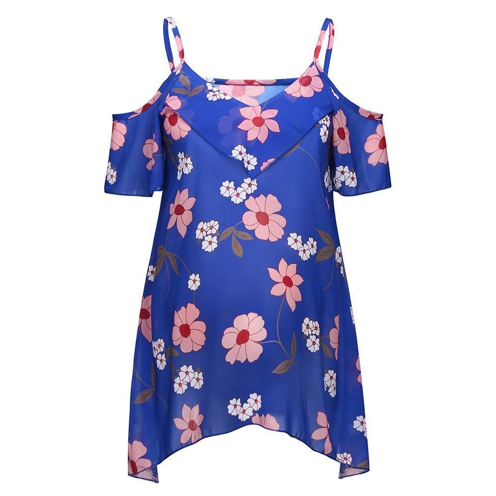 Damen Stilltop Kurzarm Umstandsmode Blume drucken Schwangere T-Shirt Mutterschafts Schwangerschaft Shirt Nursing Pflege Kleidung Still-Wrap Umstandstop Sommer Umstands-Oberteil