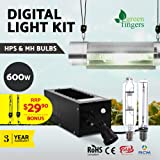 LED Grow Lights-Greenfingers 600w Plant Grow Lights with Cool Tube Reflector Magnetic Ballast Rope Ratchet Lights for Indoor Plants Hydroponics Greenhouse Seedling Veg and Flower