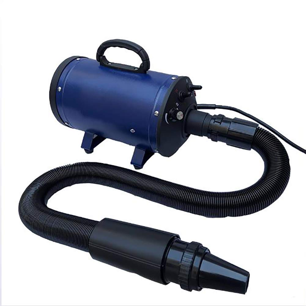 3.2HP 2 Speed Adjustable Heat Temperature Pet Grooming Force Hair Dryer with 3 Different Nozzles Suitable for Cats and Dogs 2200W