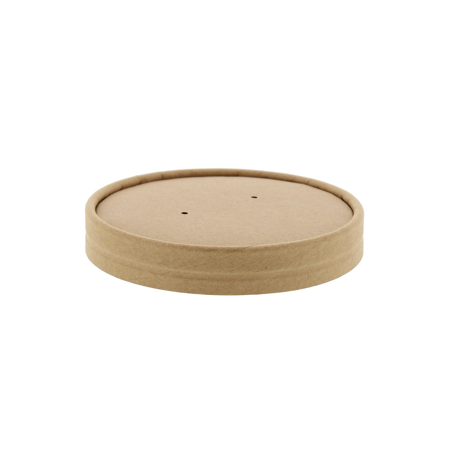 Royal 16oz Kraft Vented Paper Food Container Lids, Case of 500