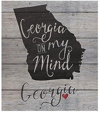 amazon com kindred hearts 12 x13 5 georgia state slogan pallet