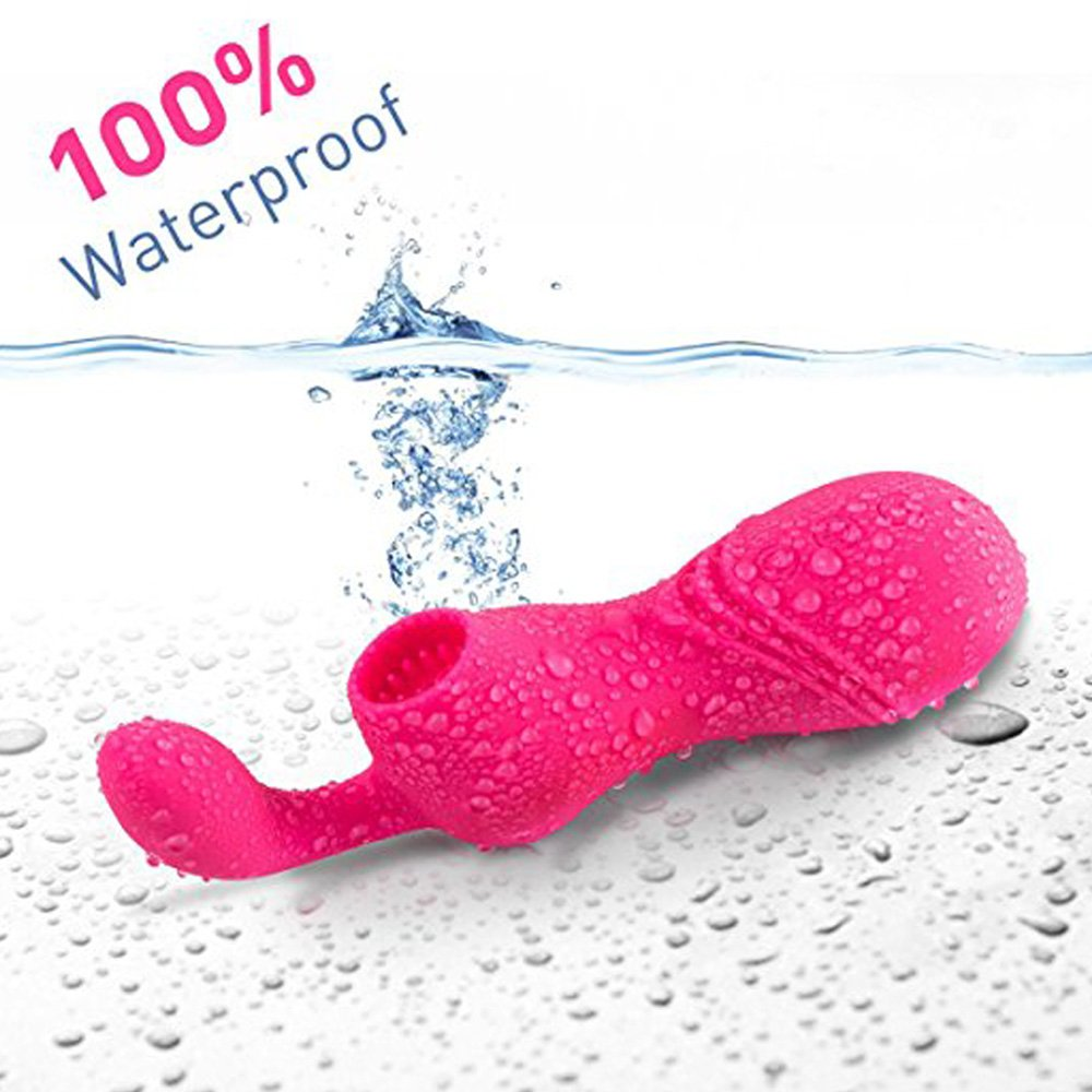USB Rechargeable 2 in 1 sūuction Vibration Waterproof Šuck Silent Low Silicone Vibrator for Women Help Relieve Release Cute Toy Tank Top by ahuayi (Image #3)