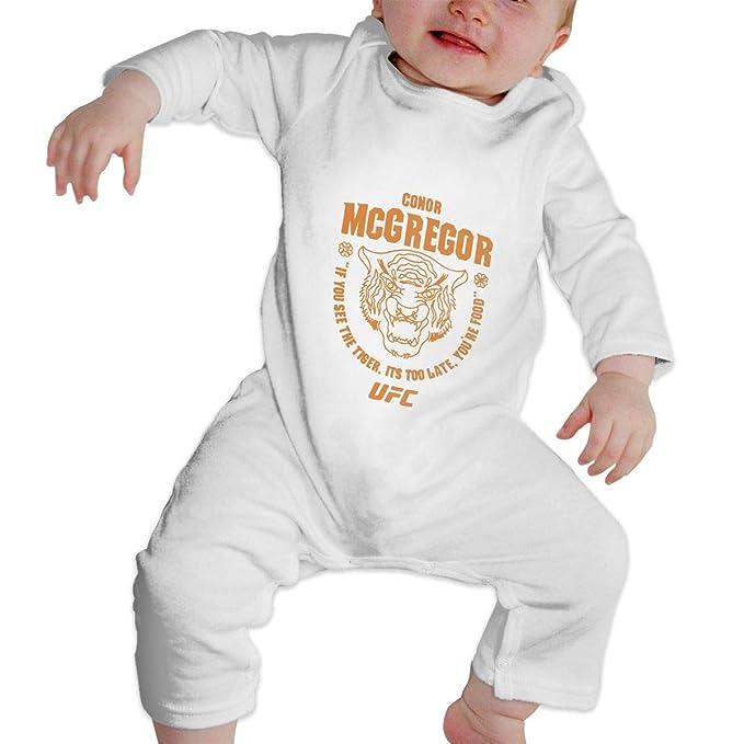 b276dfb21 Amazon.com: Conor McGregor UFC 202 Tiger Food Baby Jumpsuit Newborn Baby  Infant Bodysuit Long Sleeve Crawler: Clothing