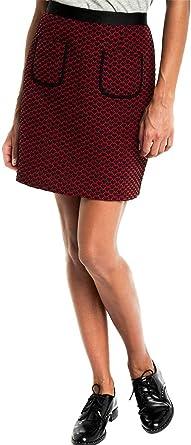 Naf Naf Falda ECOEUR J1 roja para Mujer.: Amazon.es: Ropa y accesorios