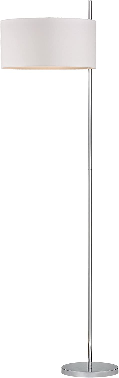 Dimond Lighting D2473 Attwood Floor Lamp, 21.5 x 21.5 x 64 , Polished Nickel