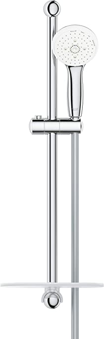 "Grohe 28436002 Tempesta Classic 2.5 GPM 24/"" 4-Spray Shower Rail Set Starlight C"
