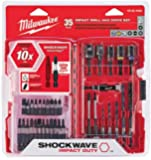 Milwaukee (48-32-4402) 35 Piece Milwaukee Shockwave Impact Duty Drill Bits and Driver Bits