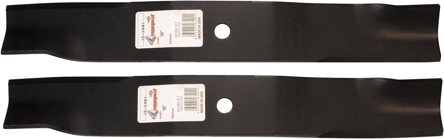 Amazon.com: (2) giratorio 3401 Cuchillas de cortacésped para ...