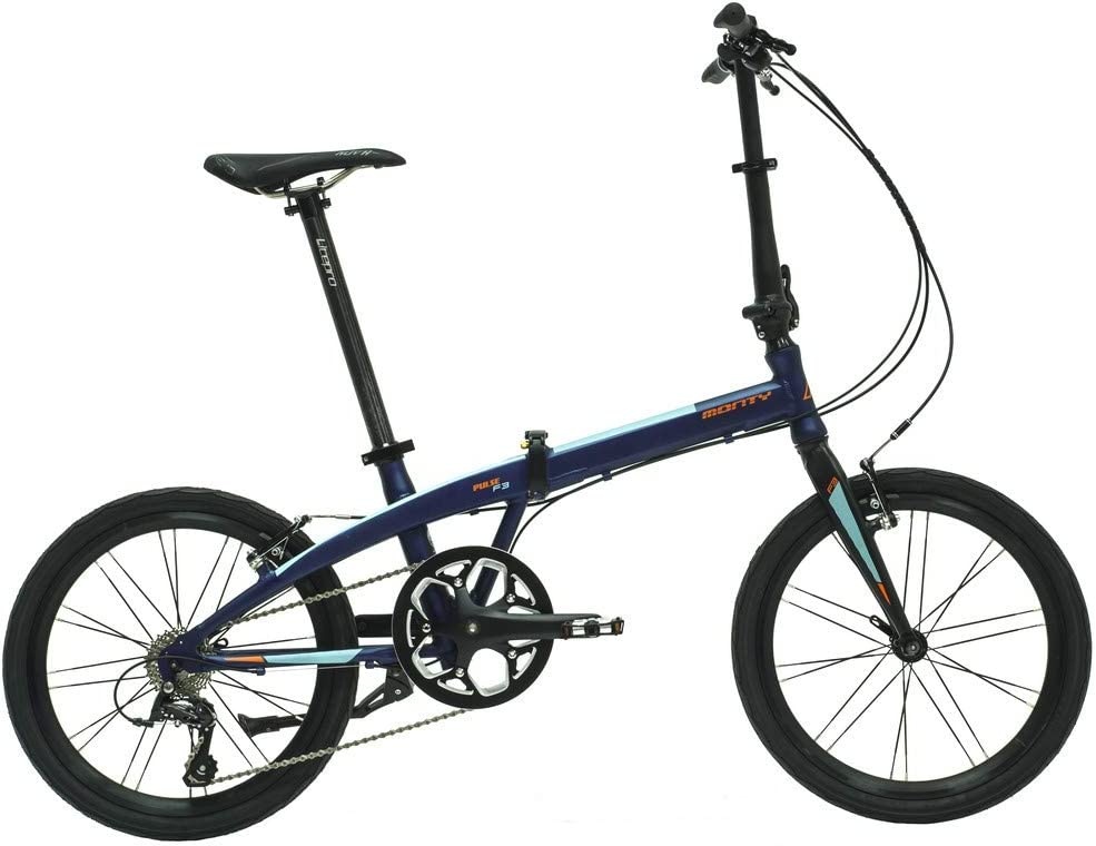 Monty Folding - Bicicleta Plegable, Color Azul, 20