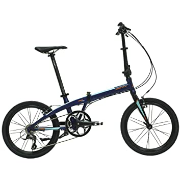 Monty Folding - Bicicleta plegable, color azul, 20""