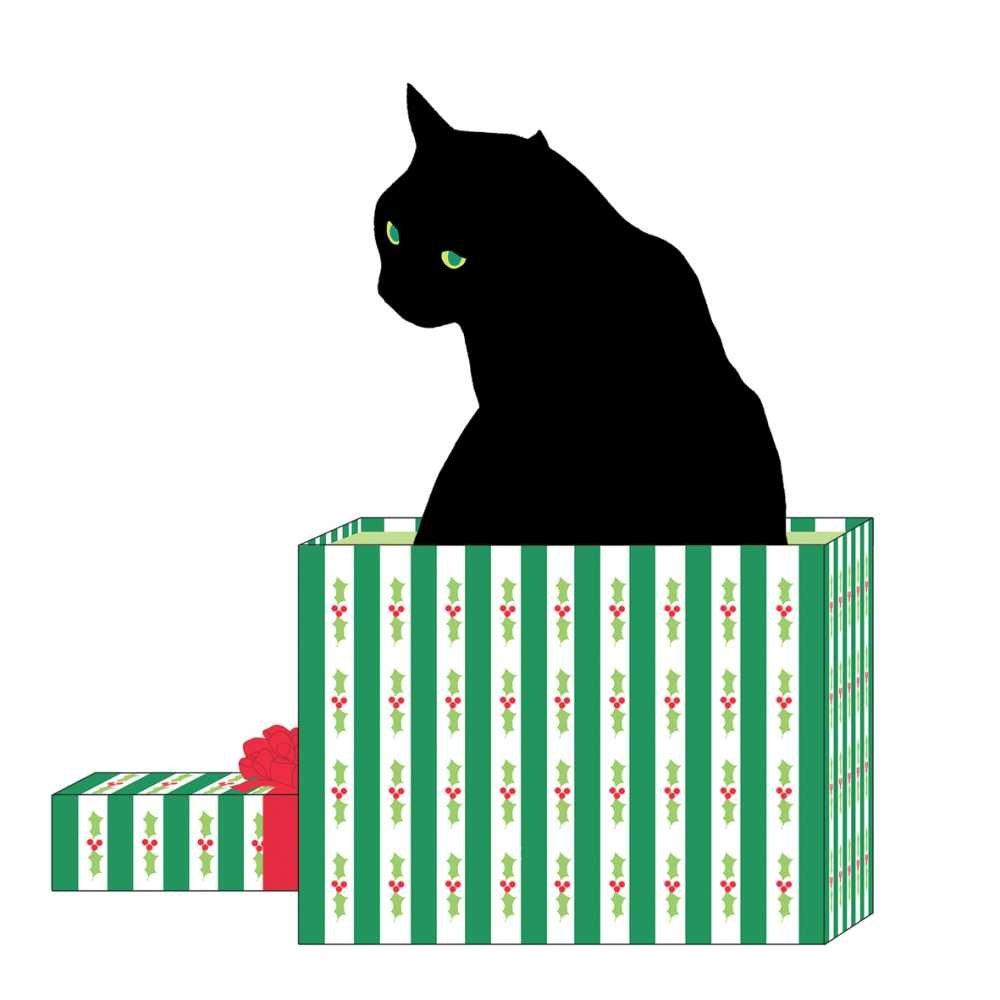 Paperproducts Design Black Cat Cadeau Beverage Napkins 5 x 5 Multicolor