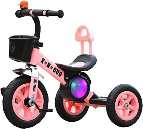 Niñas Triciclo ligero Bicicleta para niños con música Iluminación Bebé Juguete Coche 1-4 años (Color : Pink): Amazon.es: Bebé