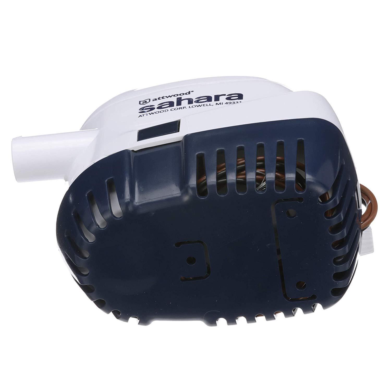 attwood 4511-7 Sahara S1100 Automatic Bilge Pump, 1100 GPH, 12-Volt, 1.5-Amp Draw, ¾-Inch Interior Diameter Hose, 29-Inch Wire (Тhrее Расk) by attwood