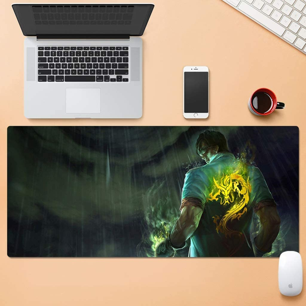 SJJSP Mouse pad E-Sports Game Mouse Pad Lock Mouse Pad Large Keyboard Pad Thick Rubber Wear Table Mat Color : D, Size : 4mm
